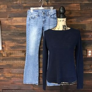 Chaps Navy Sweater